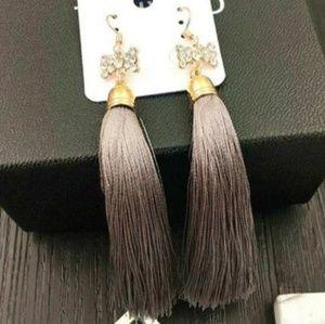 Fashion Boho Crystal Tassel Dangle Earrings